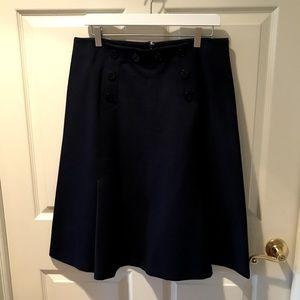 J.Crew Nautical Navy A-Line Skirt